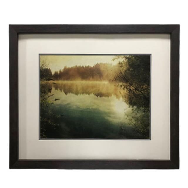 Print-River Landscape w/reeds