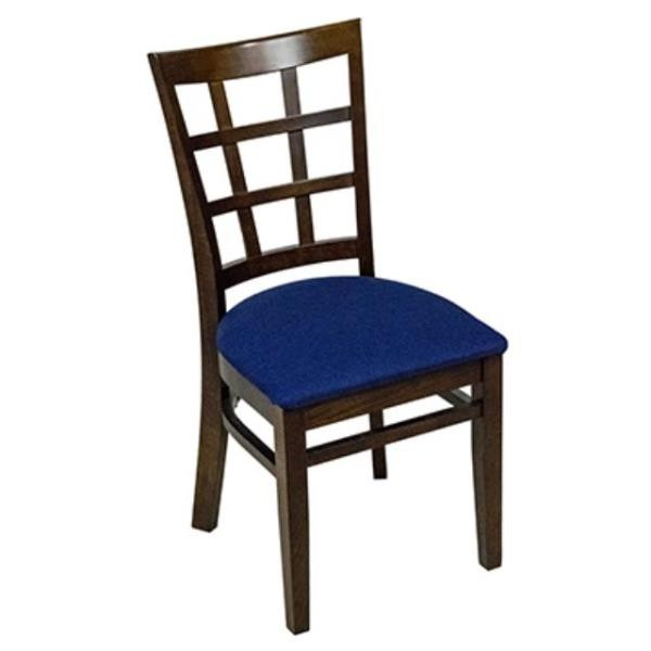 CHAIR-Hatch Back Pattern/Blue Seat Side Chair