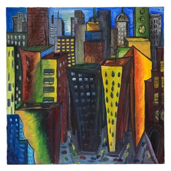 PAINTING-City Buildings