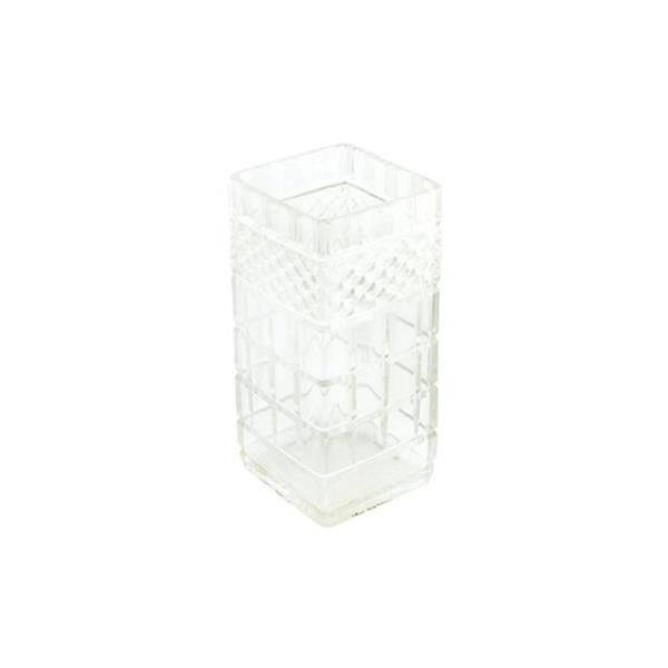 VASE-Square Clear Gut Glass
